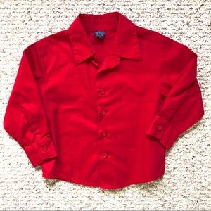 NWOT Arrow Size 4 Red Button Up Long Sleeve Shirt